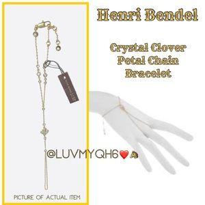 Henri Bendel Crystal Clover Petal Chain Bracelet